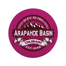 "Arapahoe Basin Raspberry 3.5"" Button"