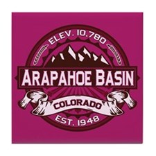 Arapahoe Basin Raspberry Tile Coaster