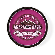 Arapahoe Basin Raspberry Wall Clock
