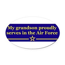 Unique Strong air force wife Oval Car Magnet