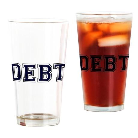 Debt Drinking Glass