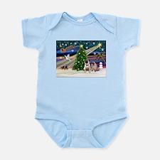 X Mas Magic & Pug Pair Infant Bodysuit