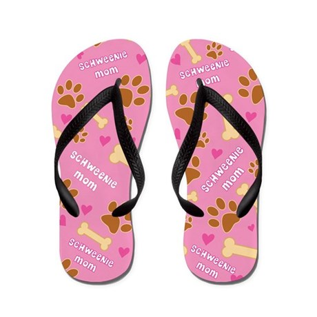 Schweenie Mom Gift Flip Flops