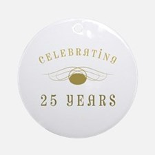 Celebrating 25 Years Of Marriage Ornament (Round)