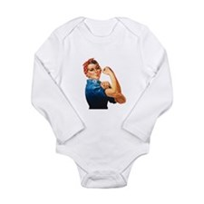ROSIE THE RIVETER Infant Creeper Body Suit