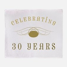 Celebrating 30 Years Of Marriage Throw Blanket
