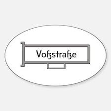 Vosstrasse, Berlin - Germany Sticker (Oval)