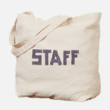 STAFF in duct tape font Tote Bag