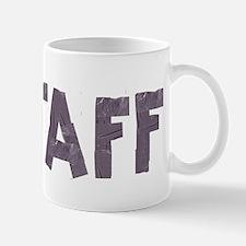 STAFF in duct tape font Mug