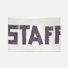 STAFF in duct tape font Rectangle Magnet