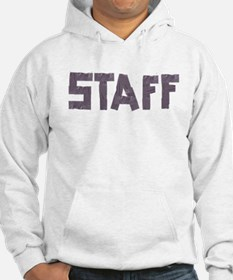 STAFF in duct tape font Hoodie
