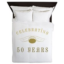 Celebrating 50 Years Of Marriage Queen Duvet