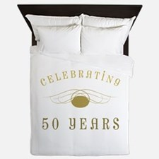 Celebrating 50 Years Of Marriage Queen Duvet