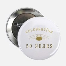 """Celebrating 50 Years Of Marriage 2.25"""" Button"""