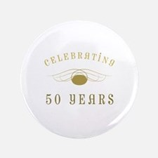 """Celebrating 50 Years Of Marriage 3.5"""" Button"""