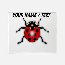 Custom Ladybug Throw Blanket