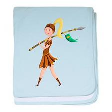 Warrior Princess baby blanket