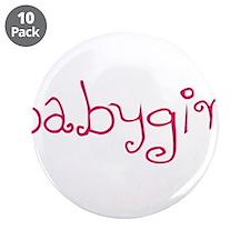 "Babygirl 3.5"" Button (10 pack)"