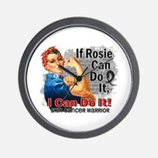 If Rosie Can Do It Skin Cancer Wall Clock