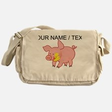 Custom Cartoon Pig Messenger Bag