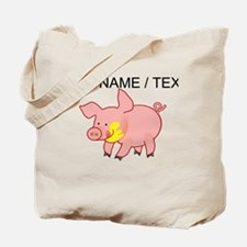 Custom Cartoon Pig Tote Bag