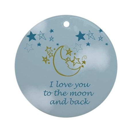 Moon and Back Ornament (Round)