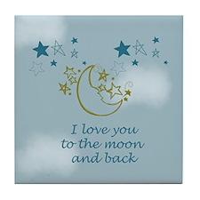 Moon and Back Tile Coaster