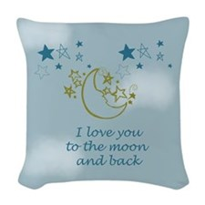 Moon and Back Woven Throw Pillow