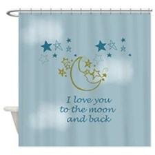 Moon and Back Shower Curtain
