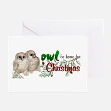 Owl Be Home for Christmas Greeting Cards (Pk of 10