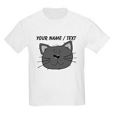 Custom Grey Cat Face T-Shirt