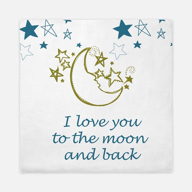 Moon and Back Queen Duvet