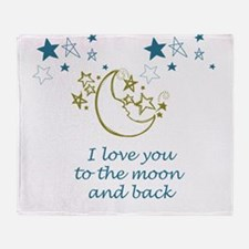 Moon and Back Throw Blanket