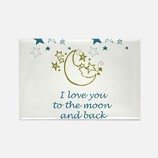 Moon and Back Rectangle Magnet