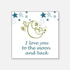 Moon and Back Sticker