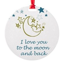 Moon and Back Ornament