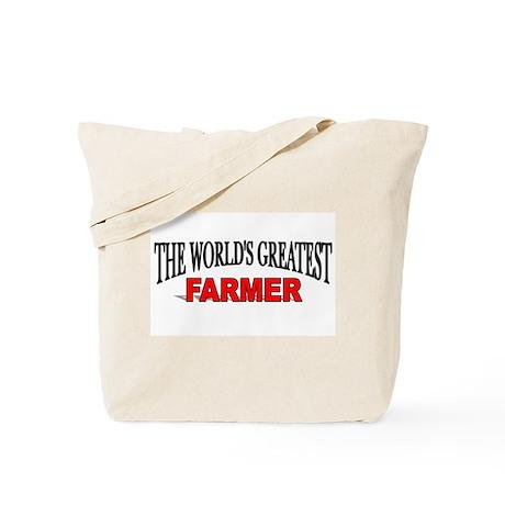 """The World's Greatest Farmer"" Tote Bag"