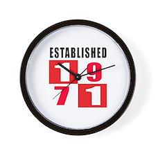 Established 1971 Wall Clock