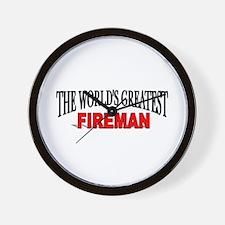 """The World's Greatest Fireman"" Wall Clock"