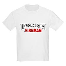 """""""The World's Greatest Fireman"""" Kids T-Shirt"""