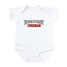 """""""The World's Greatest Fireman"""" Infant Bodysuit"""