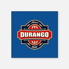 "Durango Old Label Square Sticker 3"" x 3"""
