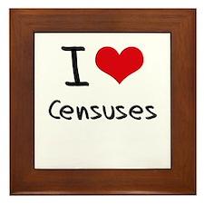 I love Censuses Framed Tile