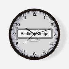 Berliner Strasse, Berlin - Germany Wall Clock