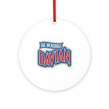 The Incredible Davian Ornament (Round)