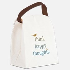 Think Happy Thoughts Canvas Lunch Bag