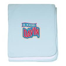The Incredible Davin baby blanket