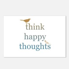 Think Happy Thoughts Postcards (Package of 8)