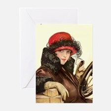 Flapper Fisher Girl Vintage Greeting Cards (Packag