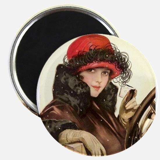 Flapper Fisher Girl Vintage Magnet